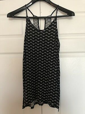 e586f3125a220b OLD NAVY black and white Ikat print sleeveless top size M Tall NWOT