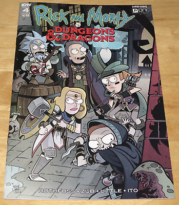 IDW Comics RICK AND MORTY VS DUNGEONS & DRAGONS #4 December 2018