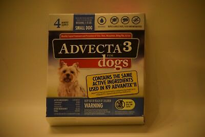 ADVECTA 3 For Small Dogs 5-10 lbs 4 month Supply new sealed