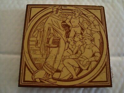 Minton Moyr Smith Six Swans Tile    19/90