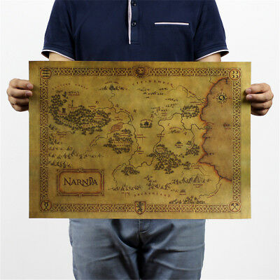 treasure map kraft paper bar poster retro decorative painting wall sticker KQ