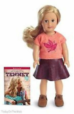 American Girl Tenney Grant Mini Doll & Book Brand New in the Box NEW 6 inch