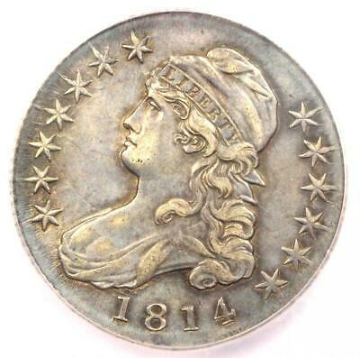 1814 Capped Bust Half Dollar 50C - Certified ICG AU58 - Rare Coin - $1,700 Value