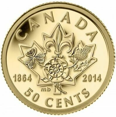 2014 Canada 50-cent Charlottetown/Quebec Conferences Pure Gold Coin (No Tax)