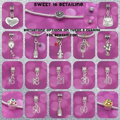 ❤ Birthday/Age Charms ❤ FOR CHARM BRACELETS ❤ COMBINED P & P ❤
