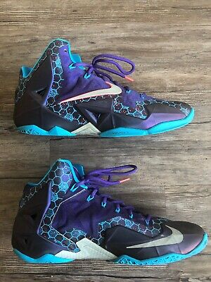 new arrivals 819f4 53225 NIKE Lebron XI 11 616175-500 Summit Lake Hornets Basketball Shoes size 11  Rare
