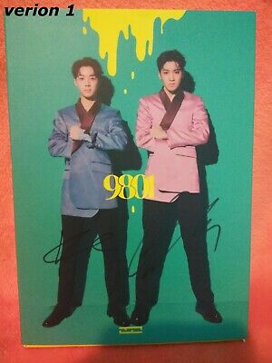 Wooseok X Kuanlin - 9801 album Autographed Signed kpop sticker photocard