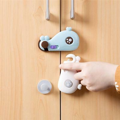 Adhesive Child Baby Kids Cute Safety Lock For Door Drawer Cupboard Cabinet WE