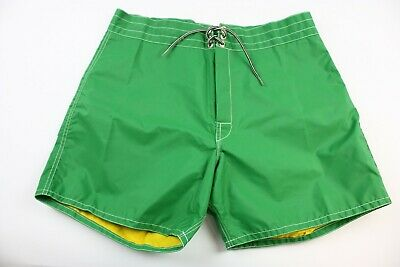436fe6da3a Birdwell Beach Britches Size 36 Green Yellow Bathing Suit NEW WITH TAGS