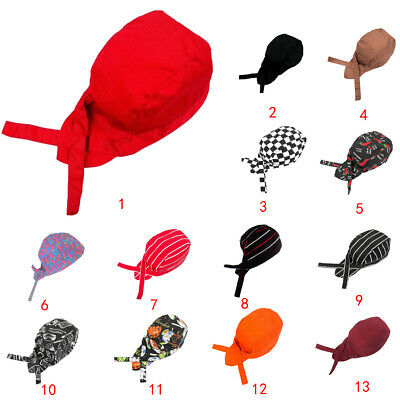 Pirate Skull Cap Chef Hat Waiter Cooker Kitchen Cap Professional Catering