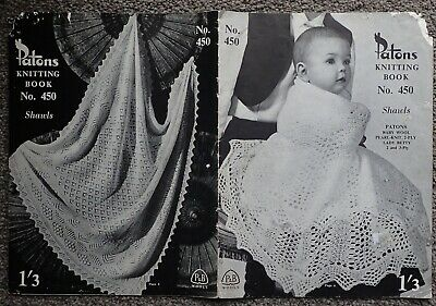 Vintage Patons Knitting Pattern Book 450 Shawls-Lovely Lacy Vintage Design