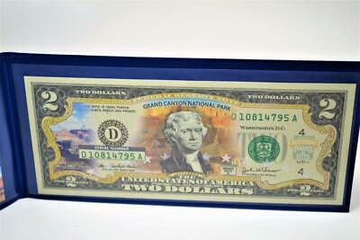 2003 Uncirculated $2 Two Dollar Bill WYOMING 50 State Color Overprint Series A