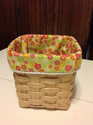 Tall Tissue Basket Liner From Longaberger Posey Fabric