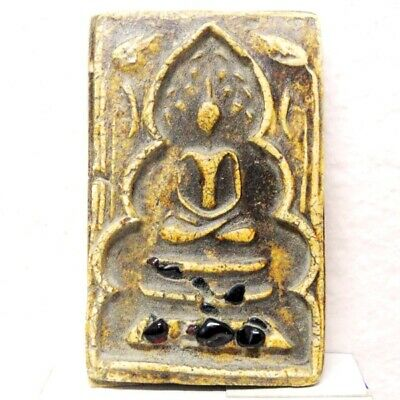 Antique Thai Buddha Amulet Old LP Somdaj Pendant AYUTTHAYA Art Buddhist gorgeous