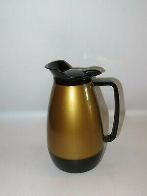 Vintage Westbend THERMO-SERV Gold and Black Coffee Carafe - VGC