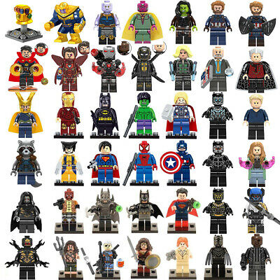 Marvel Avengers Superheroes Thanos Iron Man Hulk Mini Figures Building Block Toy