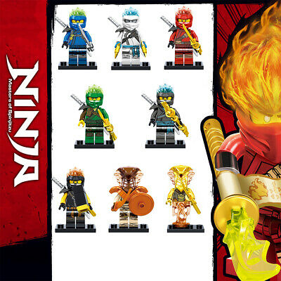 8Pcs Ninjago Ninja Snake Jay Zane Kai Nya Lloyd Mini figures Building Blocks Toy