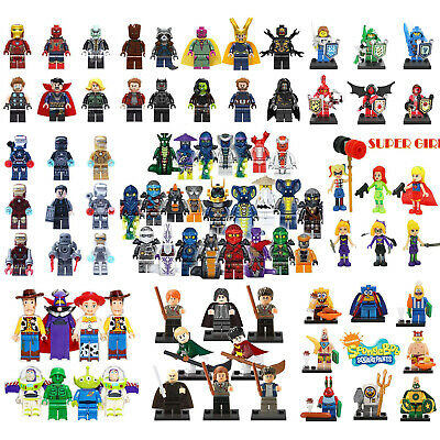 Avengers Ninjago Star Wars MC Princess Mini Figures Building Blocks Toys Gift uk