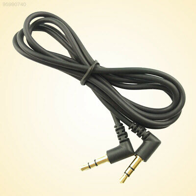 5E9D 1m 3.5mm Double Right Angle Male Plug Stereo Audio Cable Cord Connector
