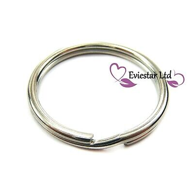 25mm Double Split Ring with Chain 304 Stainless Steel Keychain BOL25