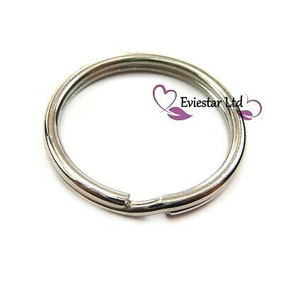 30mm Key Rings 304 Stainless Steel Round Split Rings Thick 4mm NAP14