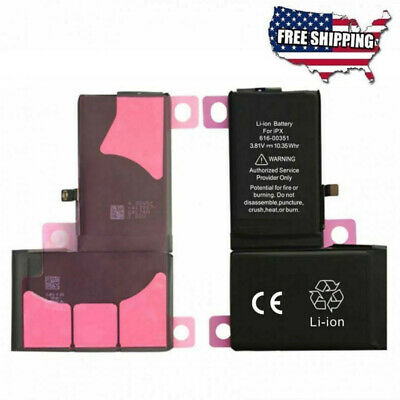"Replacement Battery For Apple iPhone X 5.8"" Li-ion Internal 3.81V 2716mAh USA"