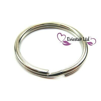 35mm Key Rings 304 Stainless Steel Round Split Rings Thick 3mm NAP17