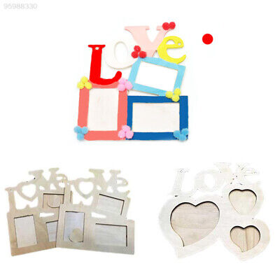 BC29 Lovely Sweet Wooden Love Hollow Photo Picture Frame Family Home Decor GIft