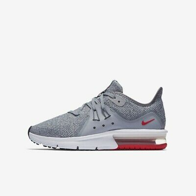 NIKE AIR MAX Sequent 3 (GS) Gris Taille 3 4.5 5 Baskets Sport Chaussure