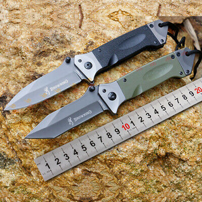 Browning Folding Opening Pocket Tactical Knife Outdoor Hunting Camping Survival