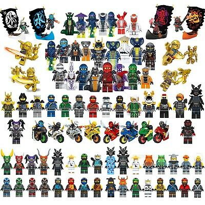 Ninjago Mini Figures Kai Jay Lloyd Sensei Wu Master Building Blocks Toy Gift Set