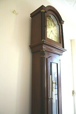 Vintage German Tempus Fugit Westminster Chime Grandfather Clock cleaned/serviced