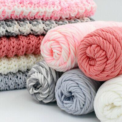 100g Lot Knitting Wool Medium Thickness Yarn Soft Worsted Crochet Thread.
