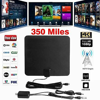 [350 Miles] Indoor Digital TV HDTV Antenna [2019 Latest] UHF/ VHF/1080p 4K UHF