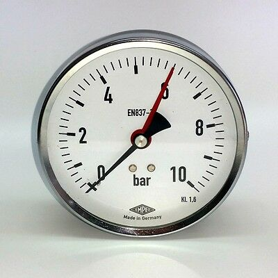 "Manometer Ø100mm  G1/4"" hinten,  - alle Messbereiche - EMPEO - Made in Germany"
