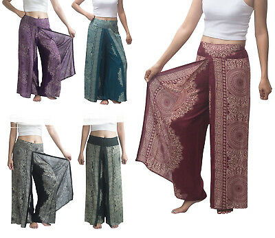 Professional Sale Harem Trousers Aladdin Smocked Waist Thai Pants Alibaba Hippie Festival Unisex Clothing, Shoes & Accessories