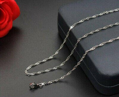 Fashion Accessories 316L Steel Water wave chain necklace For Women Men Gift