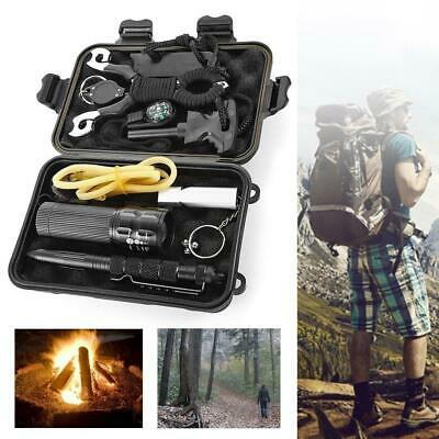 SOS Emergency Survival Equipment Kit Outdoor Tactical Hiking Camping Gear Tool