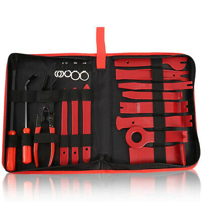 19pcs Car Auto Body Moulding Door Panel Trim Clip Removal Pry Tool Remover Kit
