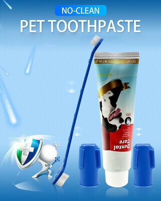 Toothbrush Finger Brush Toothpaste Dental Kit For Pet Dog Oral Gums Health Care