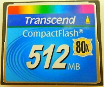 Transcend 512MB 80X CF 512MB Compact Flash Memory Card  Made in TaiWan Genuine