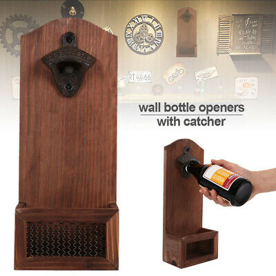 Bottle Opener Retro Wall Mounted Vintage Beer Wine Open Tool Home Bar Decor AUS,