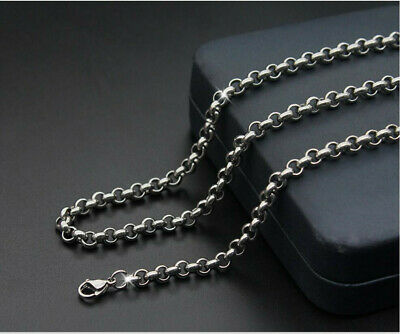 316L Stainless Steel Round pearl chain necklace Women/Girl Fashion Silver Chain