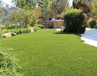 CLEARANCE Luxury Artificial Grass Astro Turf Realistic Lawn Green Garden 27mm