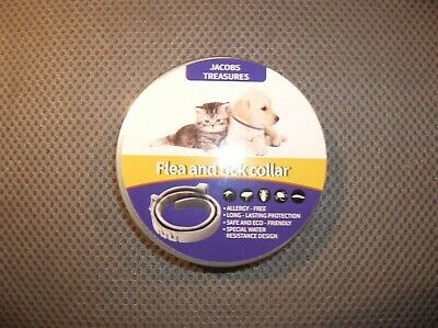 JT'S All Natural Flea and Tick Collar For Medium to Large Dogs,8Month Protection