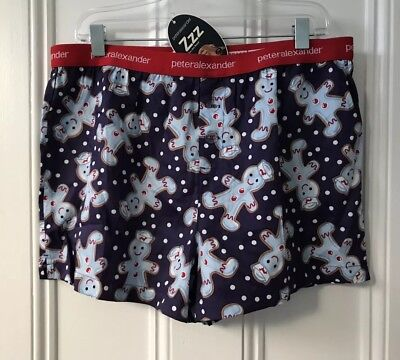 Peter Alexander Men's Gingerbread Boxer Shorts Size Large RRP$45.95