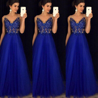 Bridesmaid Dress Chiffon Long Evening Wedding Party Ball Gown Prom Dresses