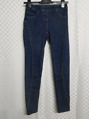 Ladies NEXT Super Skinny Jeans Jeggins Size 8 Reg. L28 Blue Elastic Waist VGC