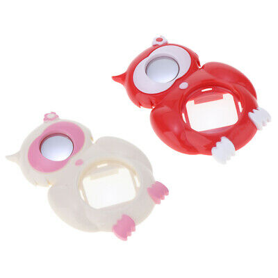 2 Pieces Selfie Close Up Lens Mirror fr Fuji Instax Mini 8, White+Red