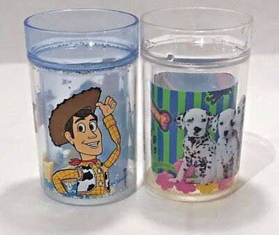 Toy Story and 101 Dalmatian's tumbler beaker with Floating clouds and paws
